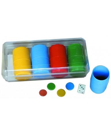 Fichas de parchís - caja plástico