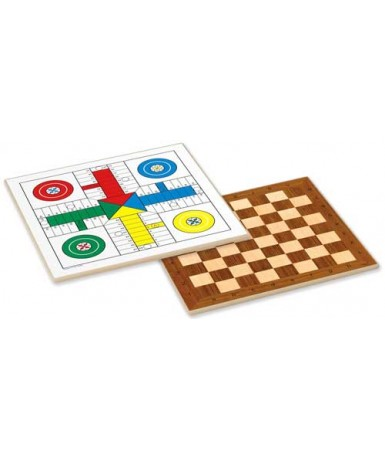 Tablero de ajedrez o damas- parchís
