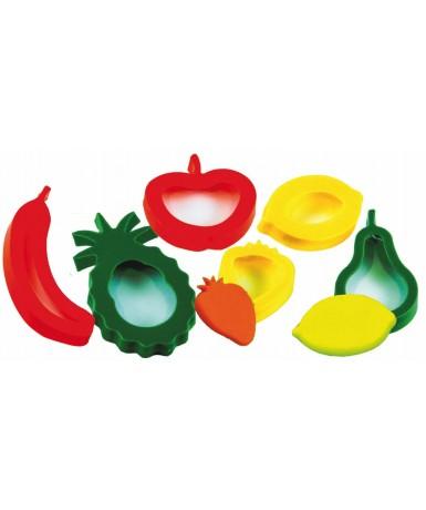 Moldes gigantes frutas - 6 unidades