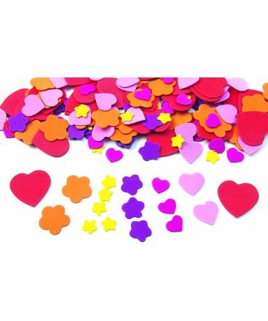 Formas corazones/flores foam goma eva