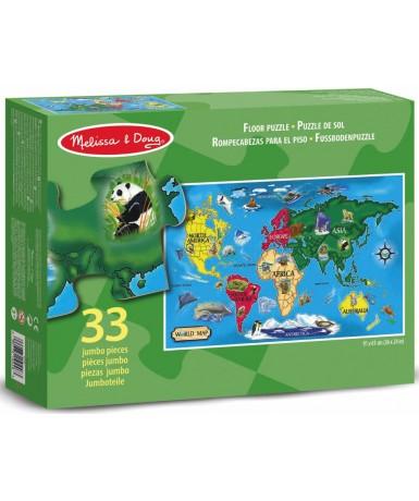 Puzle jumbo world map 33 piezas