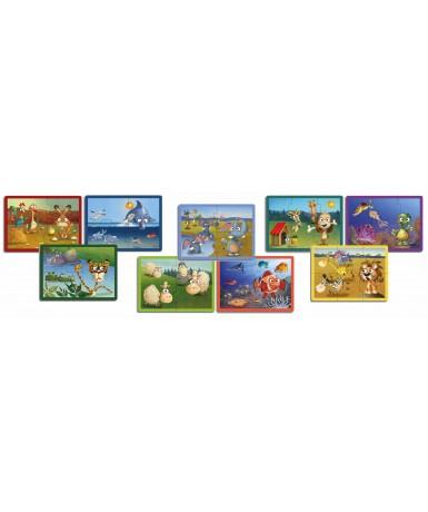 Set puzles animales