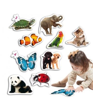 Baby puzles 9 animales silueteados