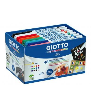 Caja 48 rotuladores para decorar Giotto