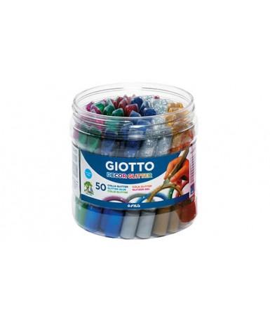 Bote de adhesivo glitter - 50 tubos