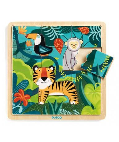 Puzle jungla 3+12 piezas