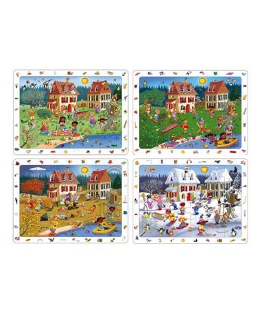 Observación las estaciones (4puzles)