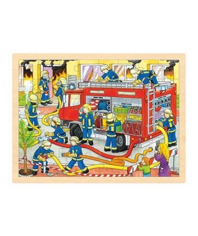 Puzle 48 piezas bomberos en acción