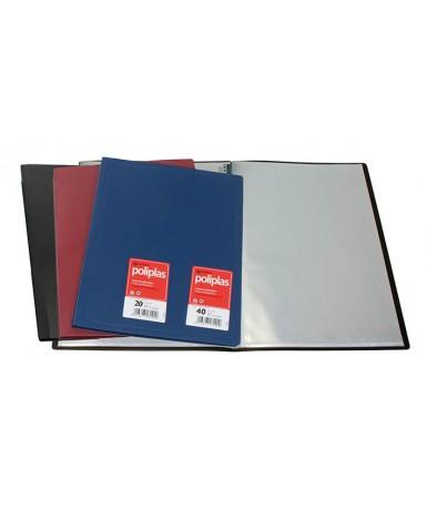 Carpetas 40 fundas azul plástico