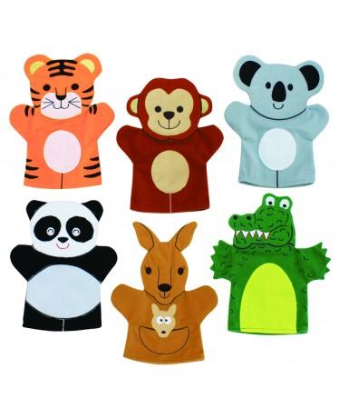 Marionetas animales salvajes- 6 uds
