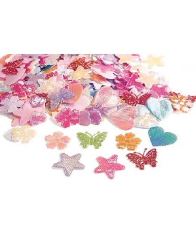 Formas de tela brillante- 500 piezas