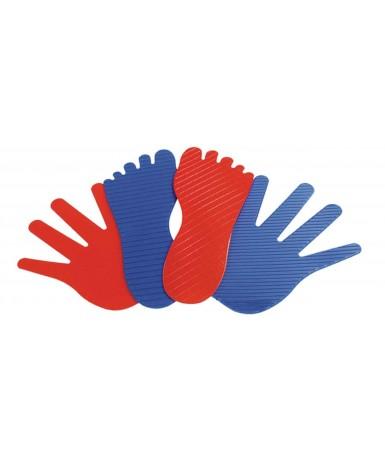 Juego de 8 manos y 8 pies...