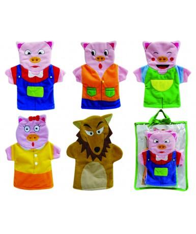 Los tres cerditos- 5 marionetas