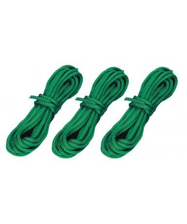 3 cuerdas verdes de 10 metros