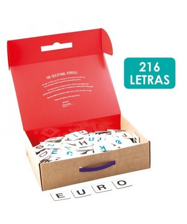 Abecedario cartón 216 piezas