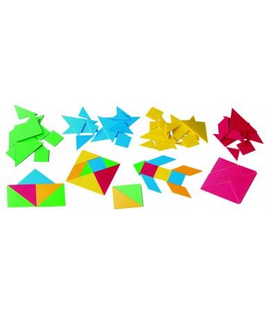 12 tangrams soft - 84 piezas