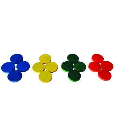 Fichas en 4 colores