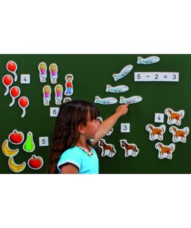 Figuras magnéticas - Contar y calcular