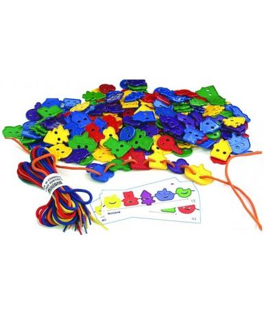 Figuras ensartables, 80 piezas