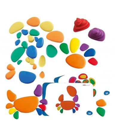 Mosaico piedra multicolor - 36 unidades