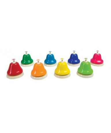 Juego 8 campanitas con botón