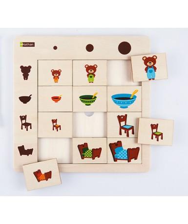 Puzle Luditab Tamaños - 12 piezas