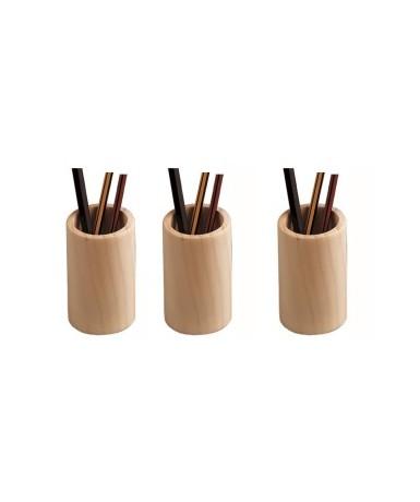 5 cubiletes madera pino para decorar