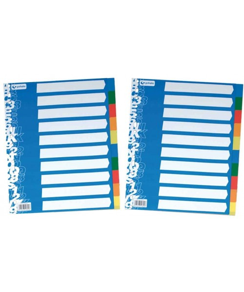Paquete 10 separadores de 5 colores