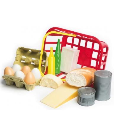 Cesta huevos-pan-queso