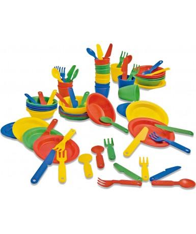 Vajilla 4 colores- 72 piezas