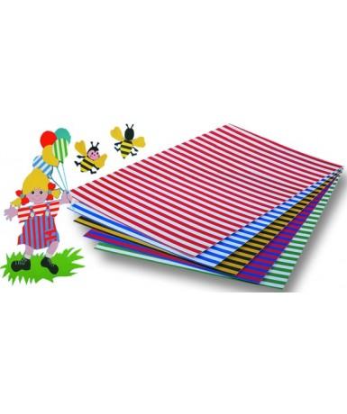 Cartón rayas - 10 unidades
