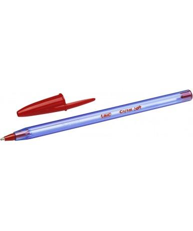 Bolígrafo bic cristal soft Rojo