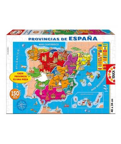 Puzle provincias españa 150 piezas