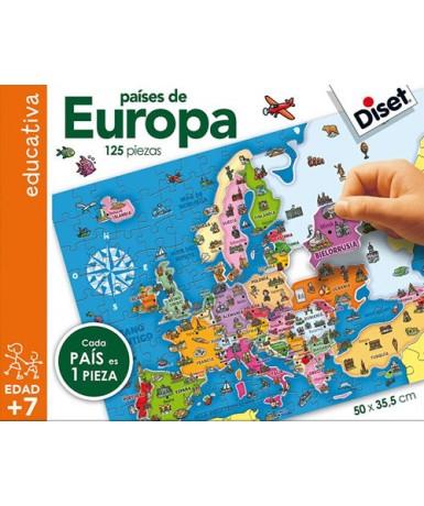 Puzle paises de europa